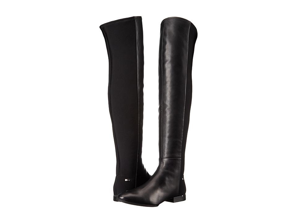 Calvin Klein - Windy (Black Leather/Neoprene) Women's Shoes