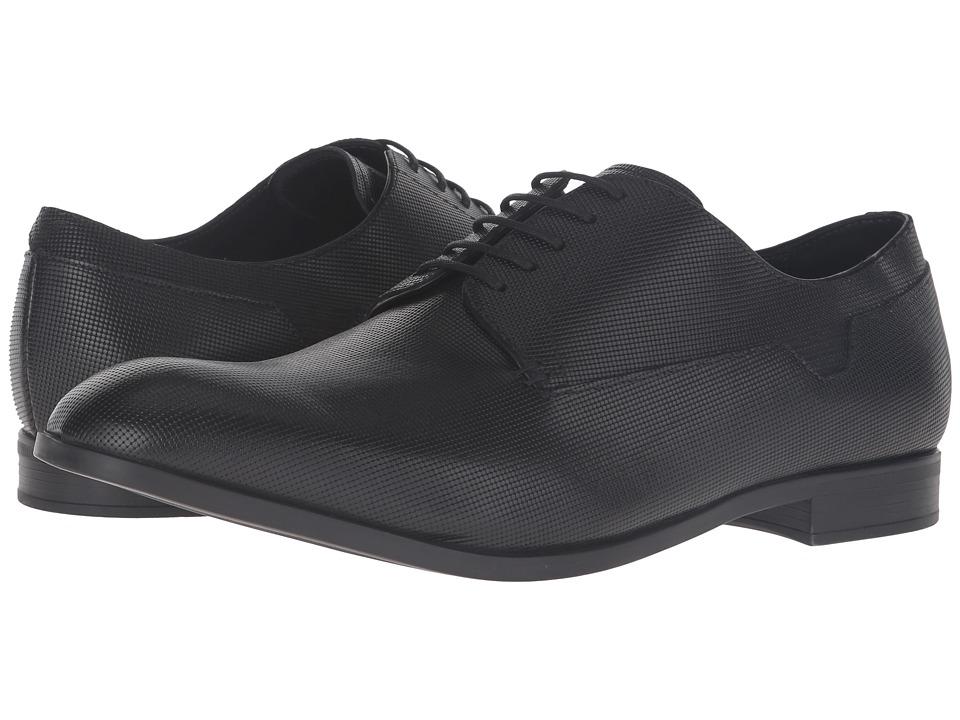Emporio Armani - Plain Toe Oxford (Black) Men's Lace up casual Shoes