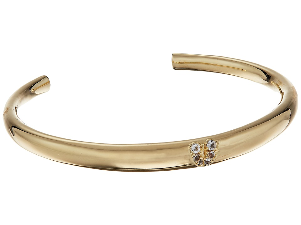 Elizabeth and James - Pave Avery Cuff Bracelet (Yellow Gold) Bracelet
