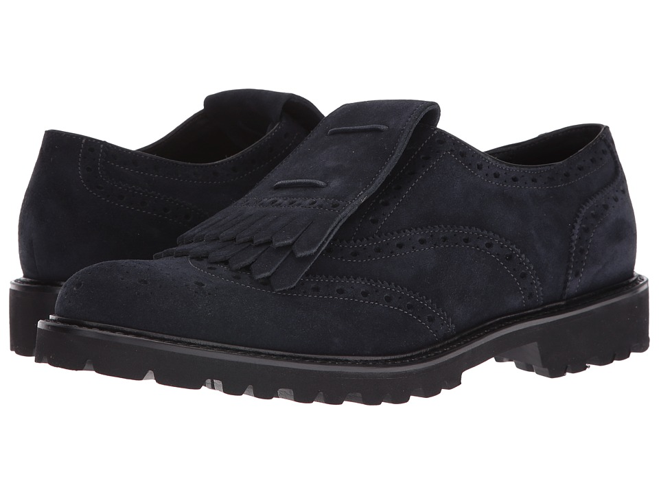 Emporio Armani - Kiltie Oxford (Night) Men's Lace up casual Shoes