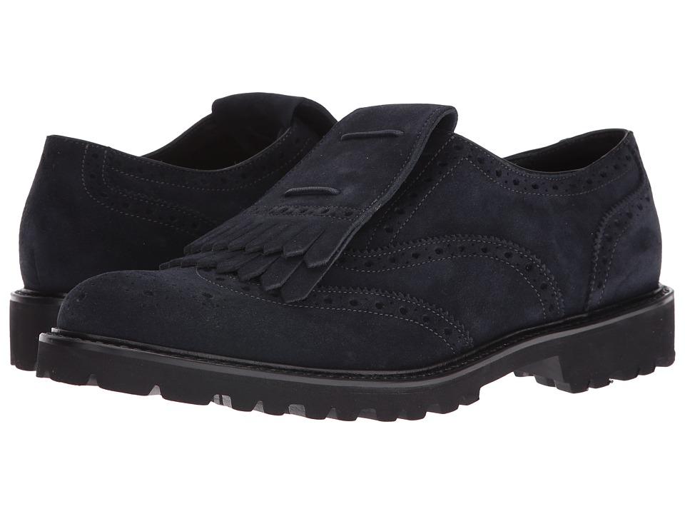 Emporio Armani - Kiltie Oxford (Night) Men's Lace up casual Shoes