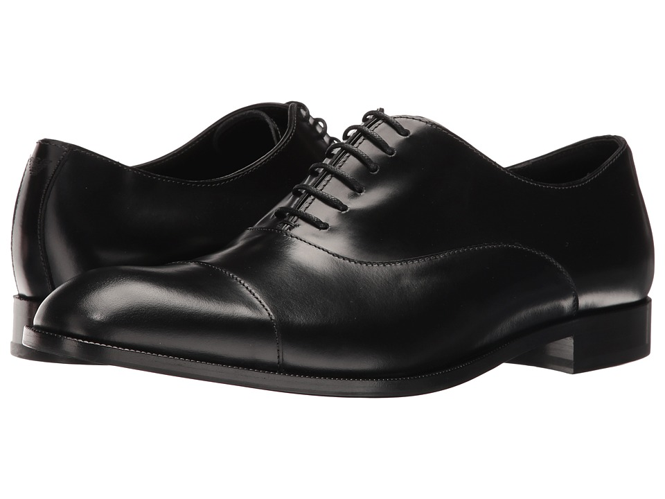 Emporio Armani - Cap Toe Oxford (Black) Men's Lace up casual Shoes