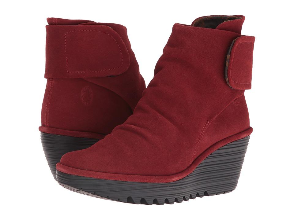 FLY LONDON - Yegi689Fly (Wine Oil Suede) Women's Shoes