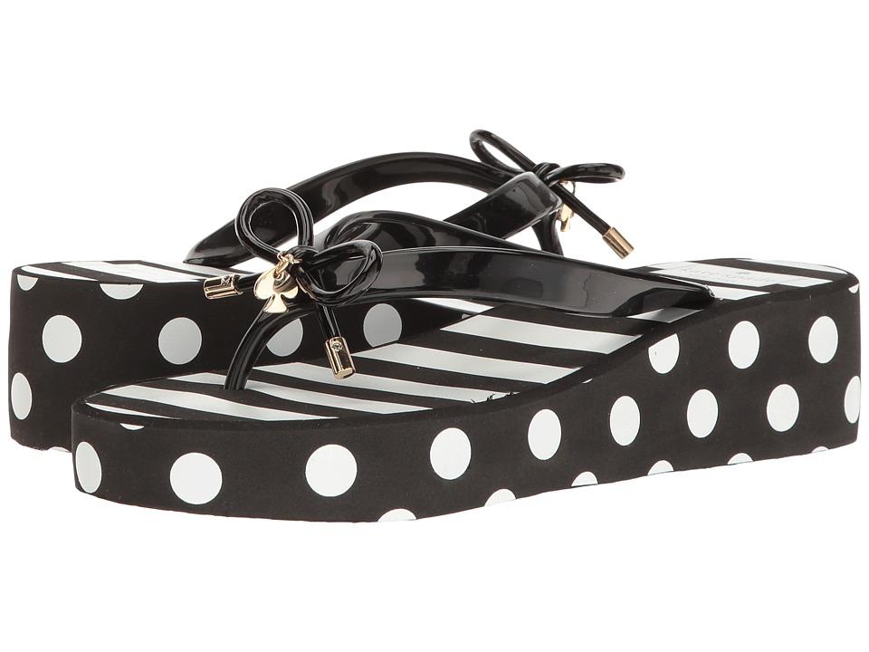 Kate Spade New York - Rhett (Black Shiny Rubber/White Stripe) Women's Shoes