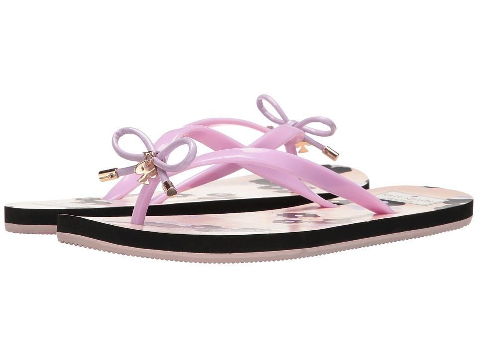 Kate Spade New York - Nova (Lilac Shiny Rubber/Floral Print) Women's Sandals