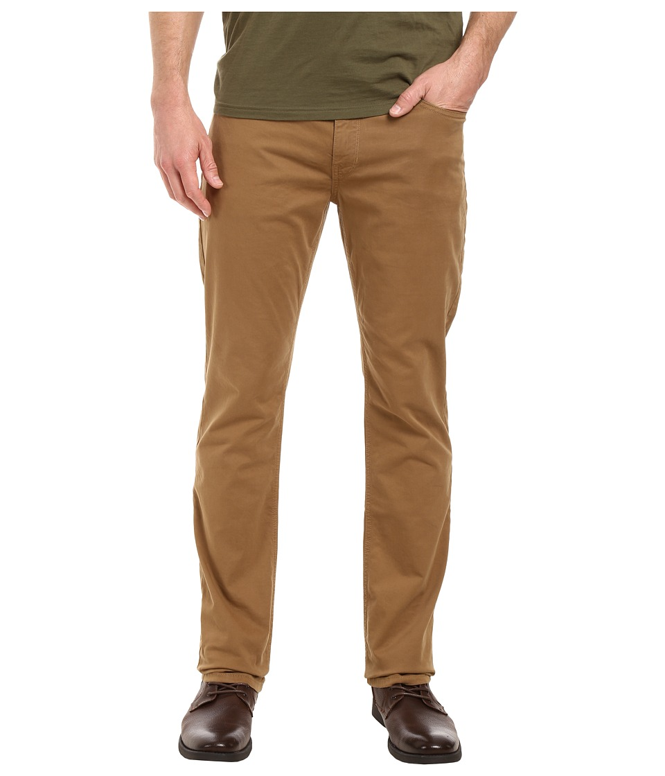 Paige - Normandie Slim Straight Leg Brushed Japanese Cotton in Dark Fawn (Dark Fawn) Men's Jeans
