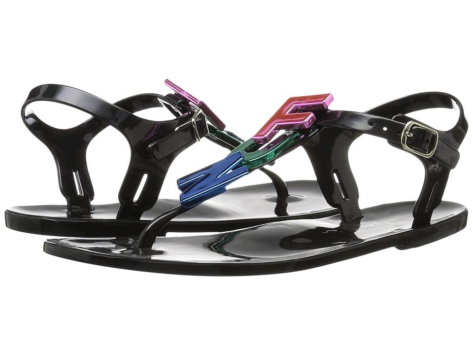 Kate Spade New York - Fennix (Black Shiny Rubber/Multi Rubber) Women's Shoes