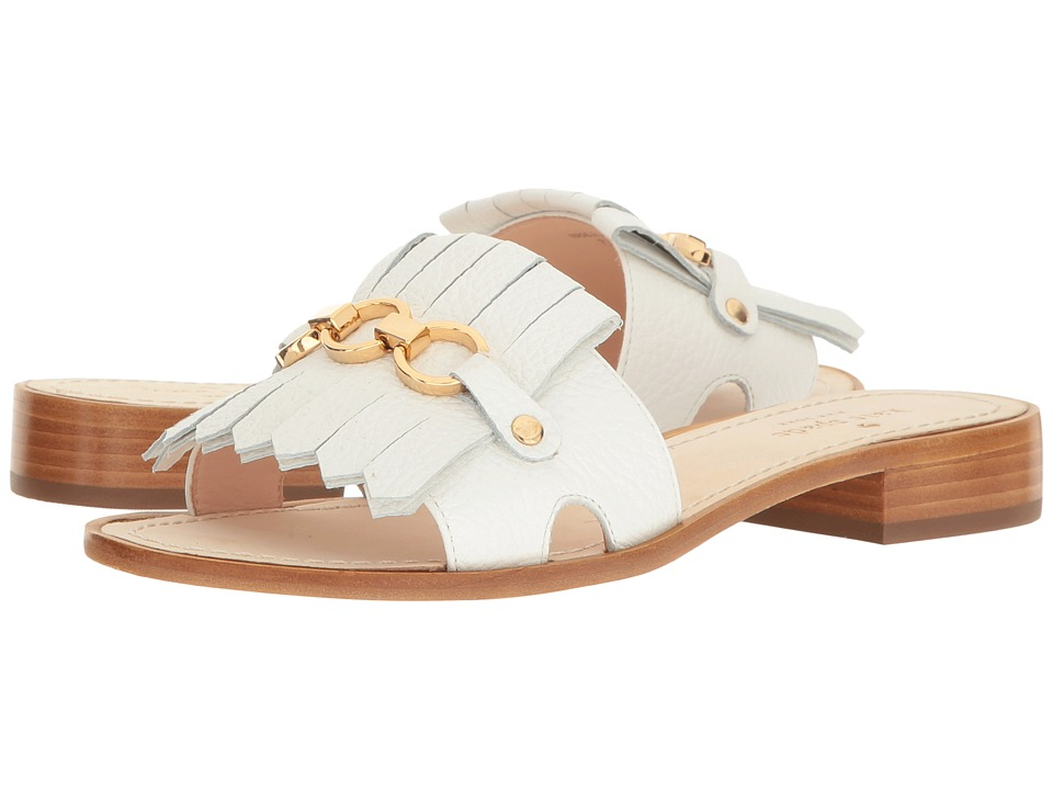 Kate Spade New York - Brie (White Tumbled Leather) Women's Shoes