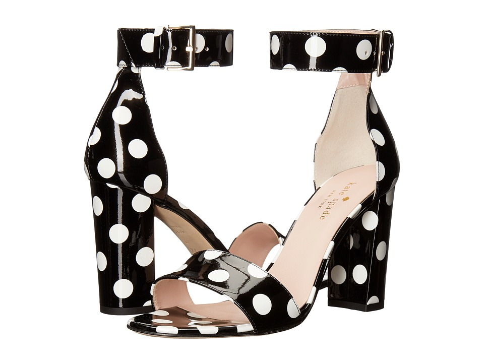 Kate Spade New York - Idabelle Too (Black/White Polka Dot Patent) Women's Shoes