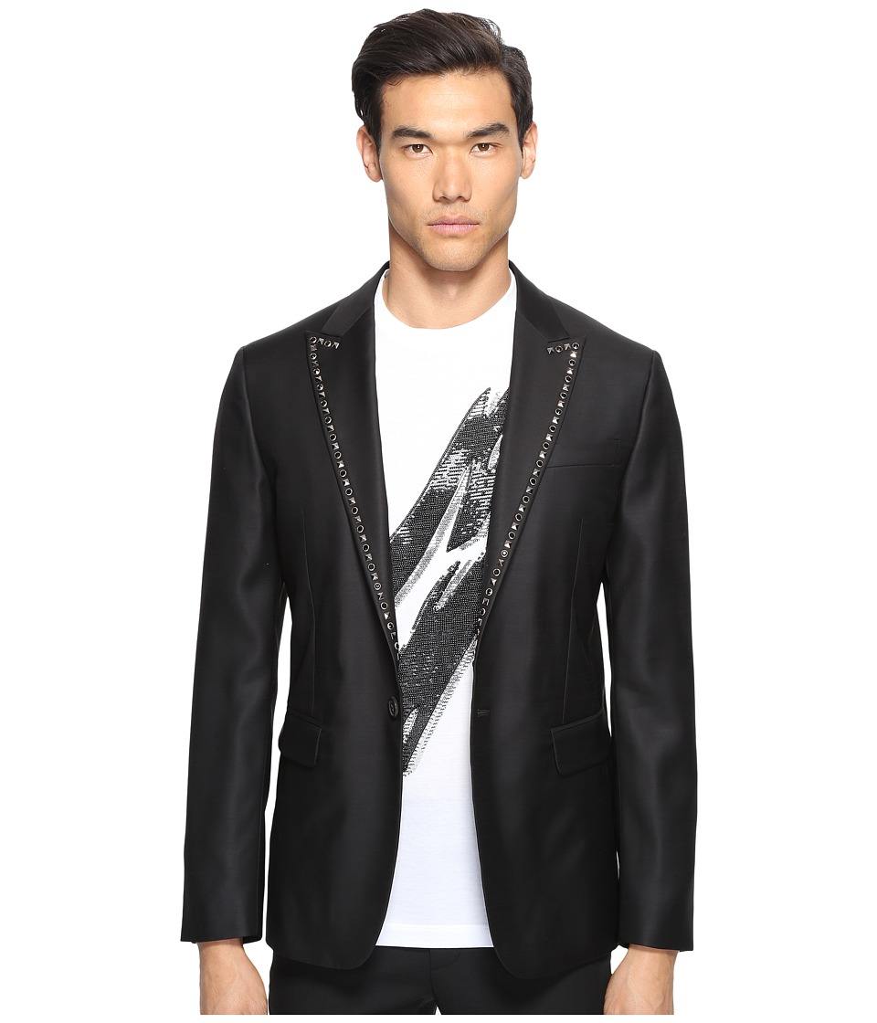 DSQUARED2 - Glam Rock Silk Wool Blazer (Black) Men's Jacket