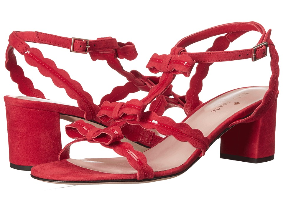 Kate Spade New York - Medea (Poppy Red Kid Suede/Red Patent) Women's Shoes