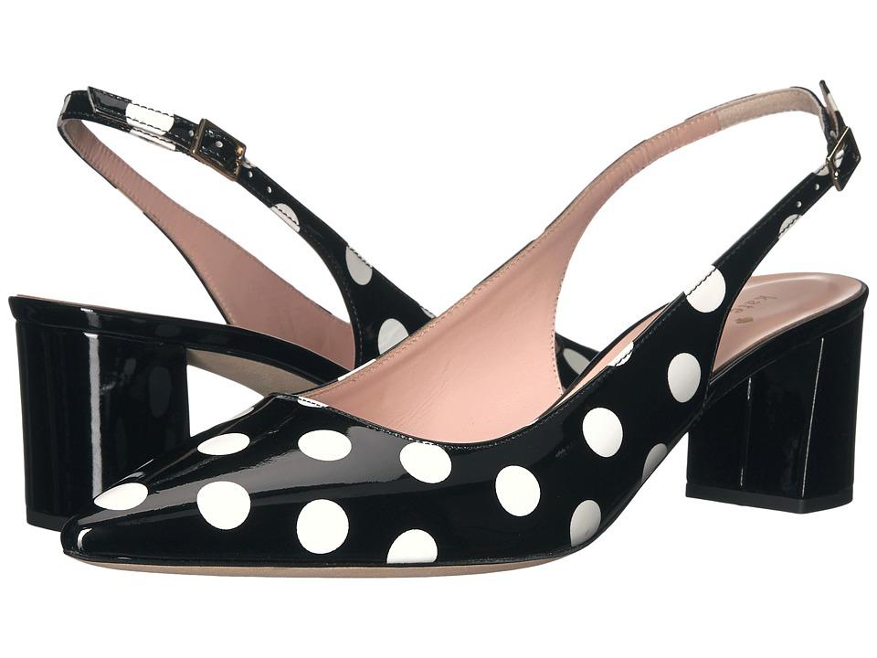Kate Spade New York - Mckay (Black/White Polka Dot Patent) Women's Shoes