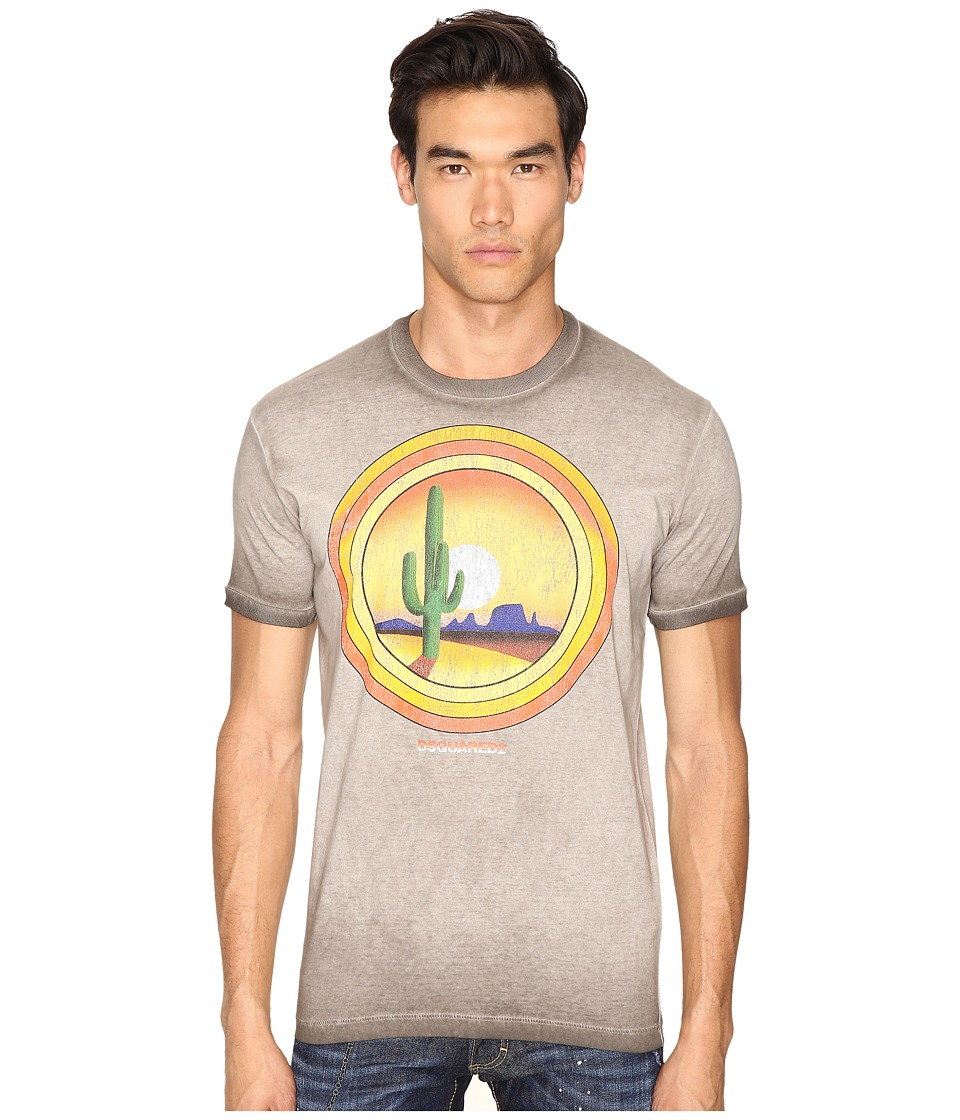 DSQUARED2 - American Road Trip T-Shirt (Grey) Men's T Shirt