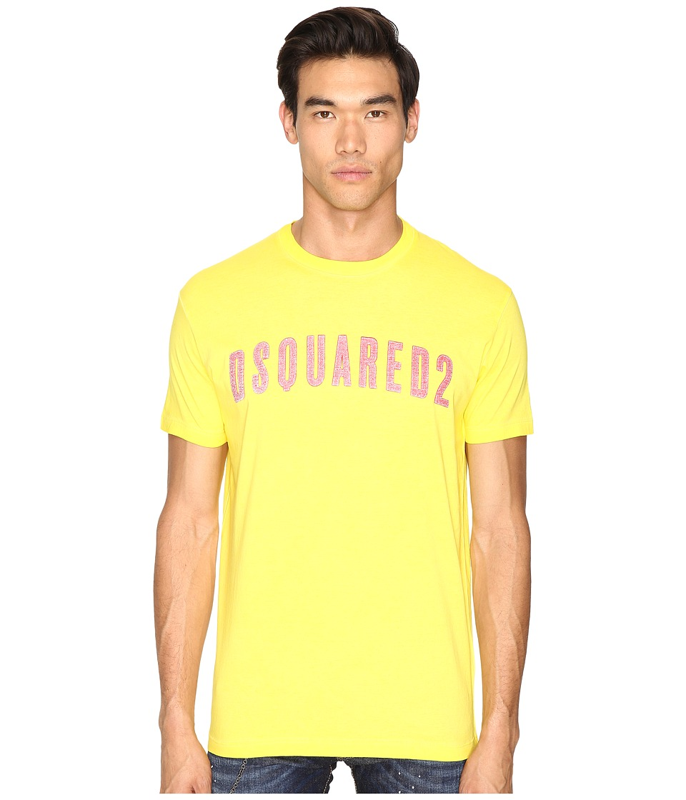 DSQUARED2 - Hand Me Down T-Shirt (Yellow) Men's T Shirt