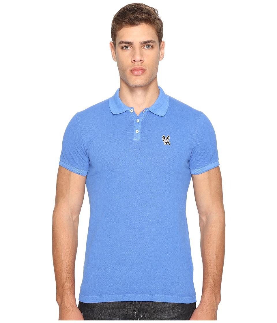 DSQUARED2 - Classic Fit Polo Shirt (Bluette) Men's Short Sleeve Pullover