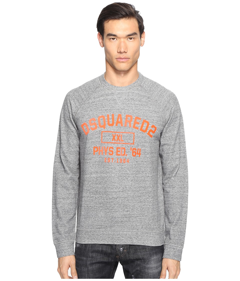 DSQUARED2 - Phys Ed Sweatshirt (Dark Grey Melange) Men's Sweatshirt
