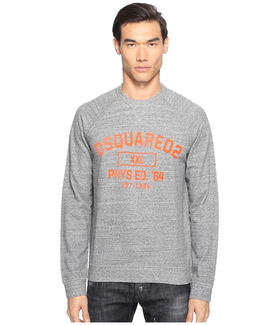 DSQUARED2 - Phys Ed Sweatshirt (Dark Grey Melange) Men's Sweatshirt