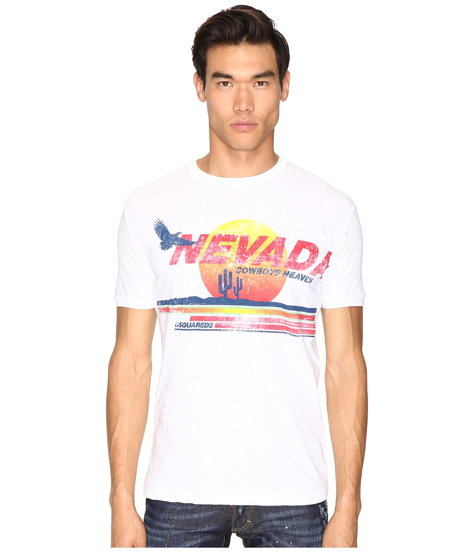 DSQUARED2 - Nevada Cowboy Heaven T-Shirt (White) Men's T Shirt