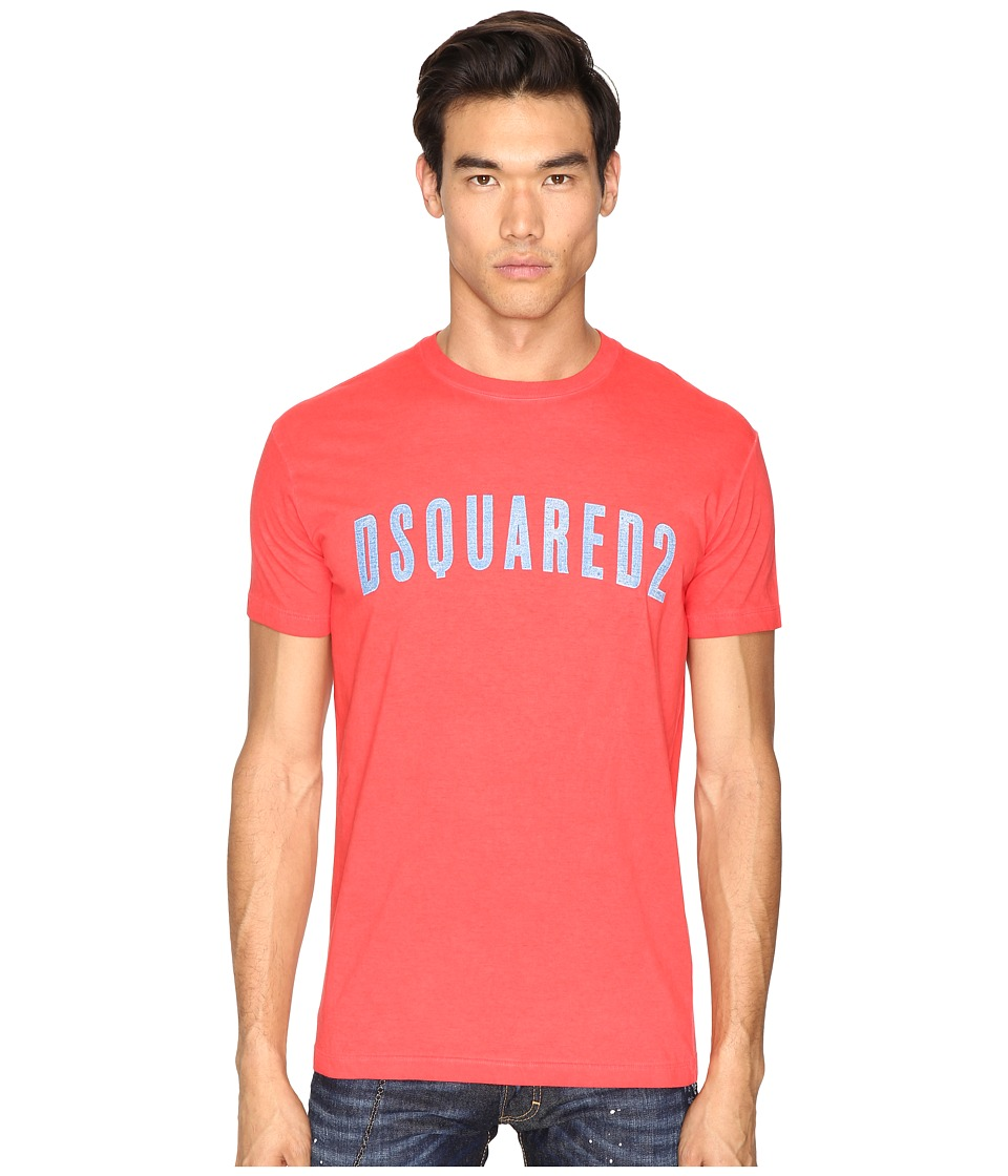 DSQUARED2 - Hand Me Down T-Shirt (Red) Men's T Shirt