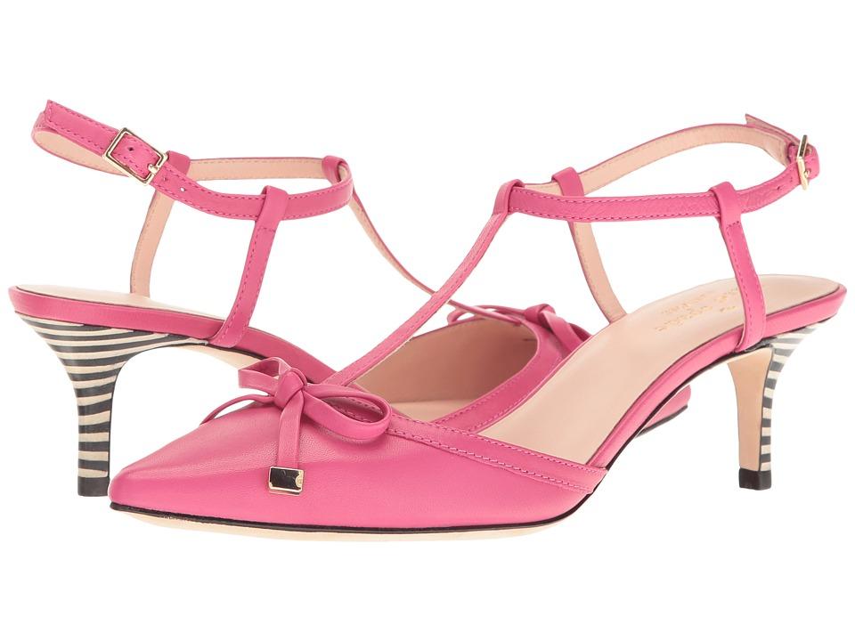 Kate Spade New York - Pomona (Deep Pink Nappa/Black/White Stripe) Women's Shoes