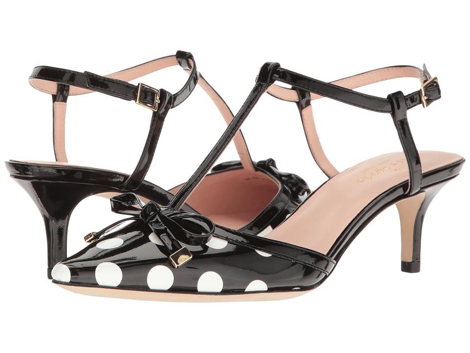 Kate Spade New York - Pomona (Black/White Polka Dot Patent) Women's Shoes