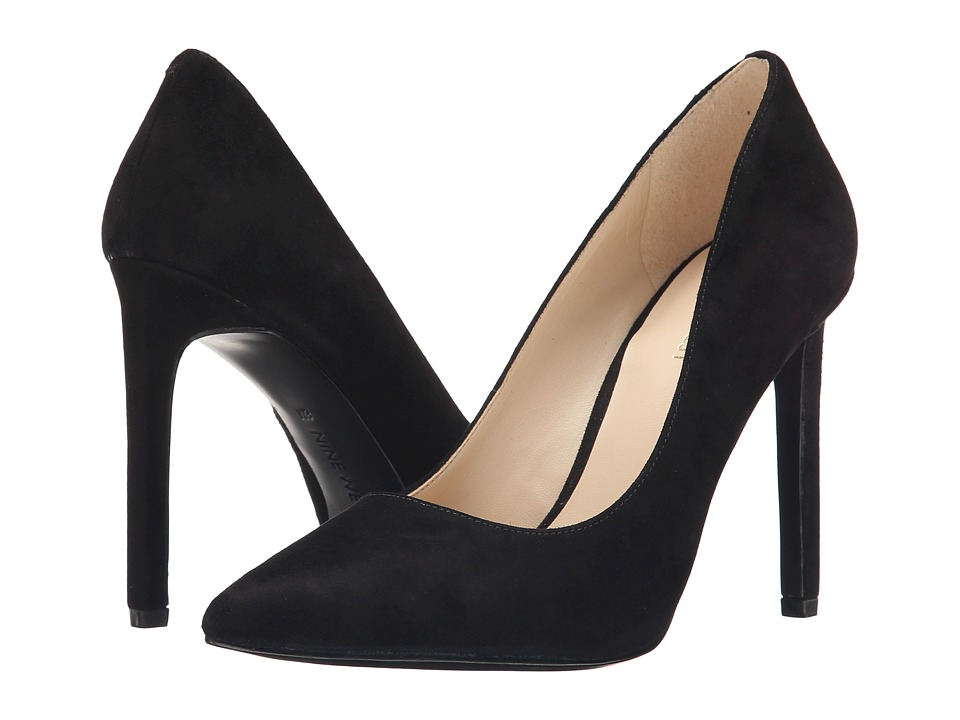 Nine West - Tatiana (Black Suede) High Heels