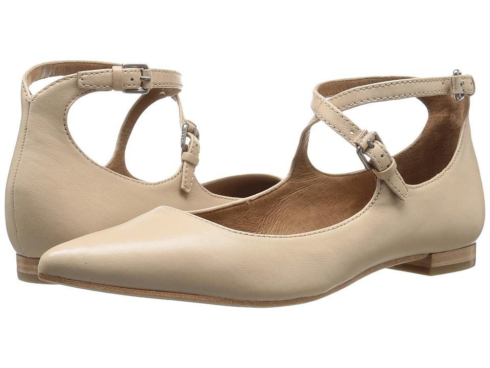 Frye - Sienna Cross Ballet (Beige Soft Nappa Lamb) Women's Flat Shoes