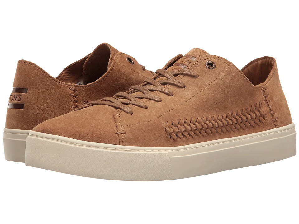 TOMS - Lenox Sneaker (Toffee Suede/Woven Panel) Men's Lace up casual Shoes