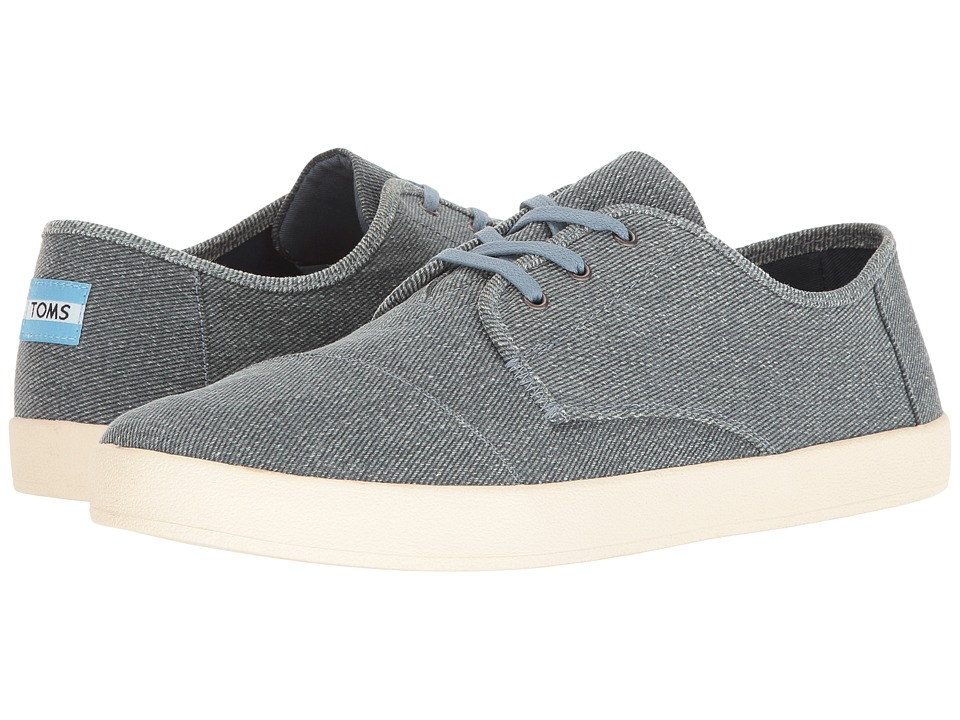 TOMS - Paseo Sneaker (Slate Blue Coated Twill) Men's Lace up casual Shoes