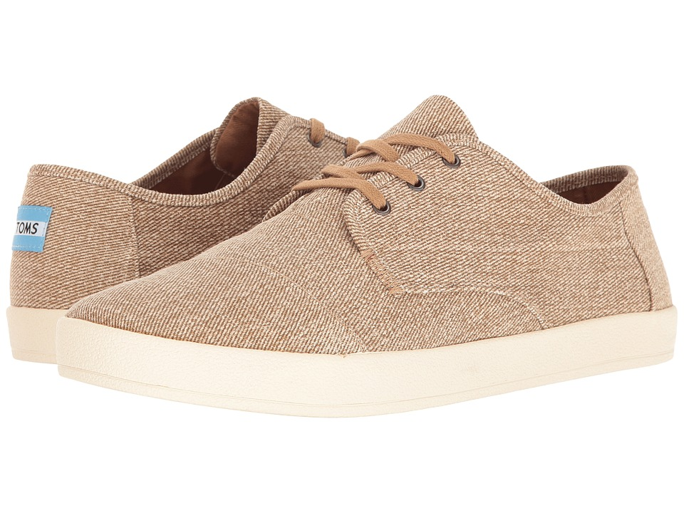TOMS Paseo Sneaker (Desert Taupe Coated Twill) Men