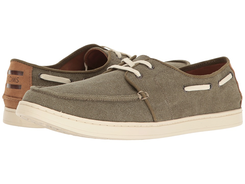TOMS Culver Lace-Up Olive Washed Canvas Mens Lace up casual Shoes