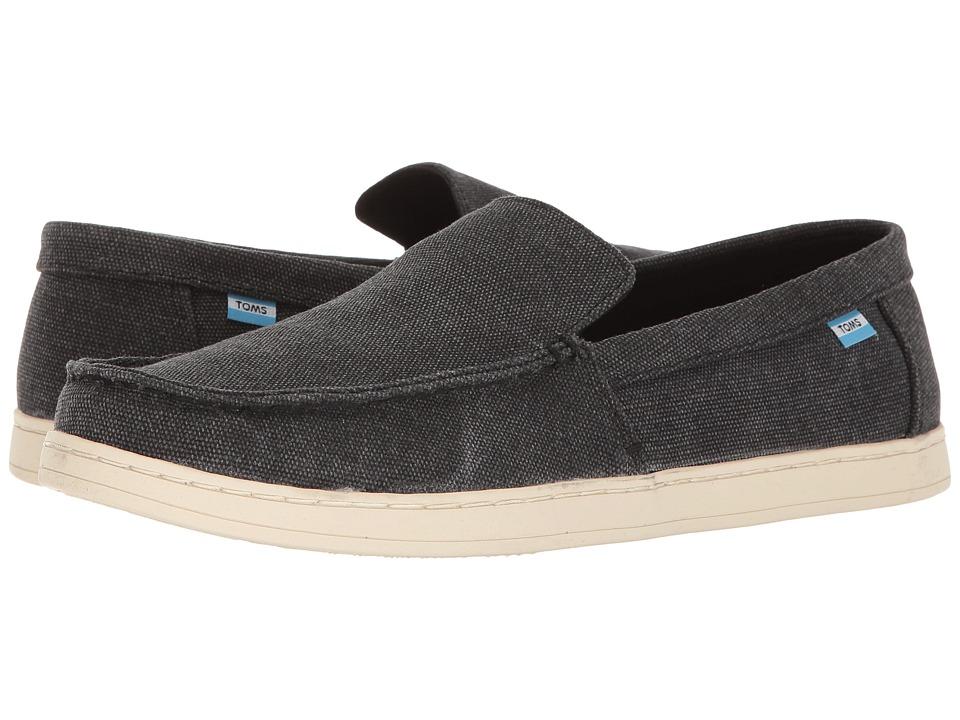 TOMS - Aidan Slip-On (Black Washed Canvas) Men's Slip on Shoes