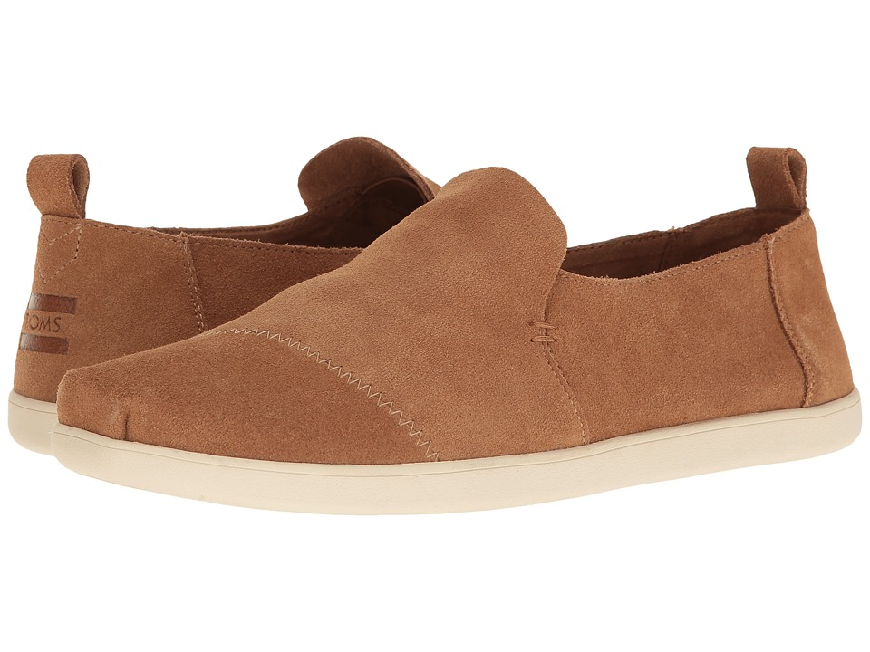 TOMS - Deconstructed Alpargata (Toffee Suede) Men's Slip on Shoes