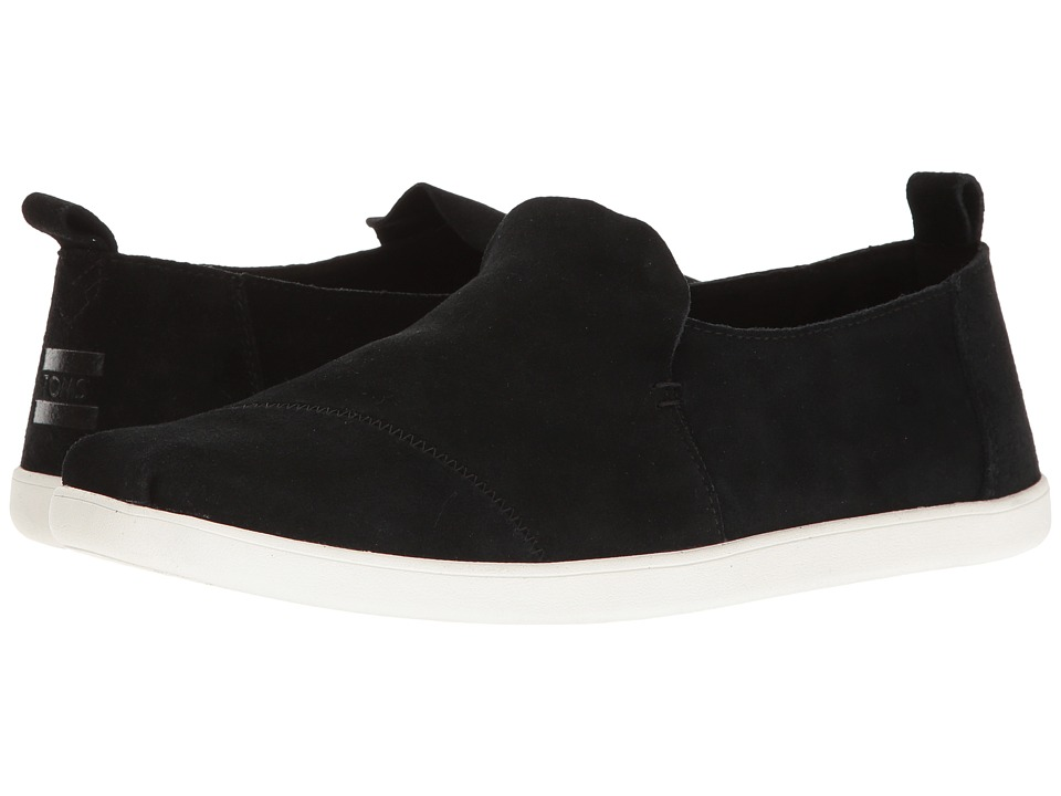 TOMS - Deconstructed Alpargata (Black Suede) Men's Slip on Shoes