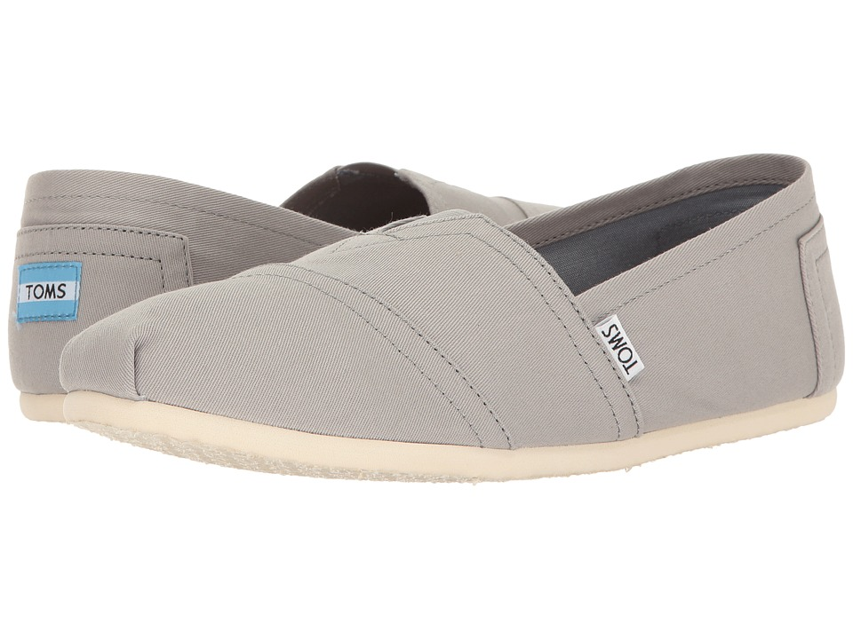 TOMS - Seasonal Classics (Drizzle Grey Canvas) Men's Slip on Shoes