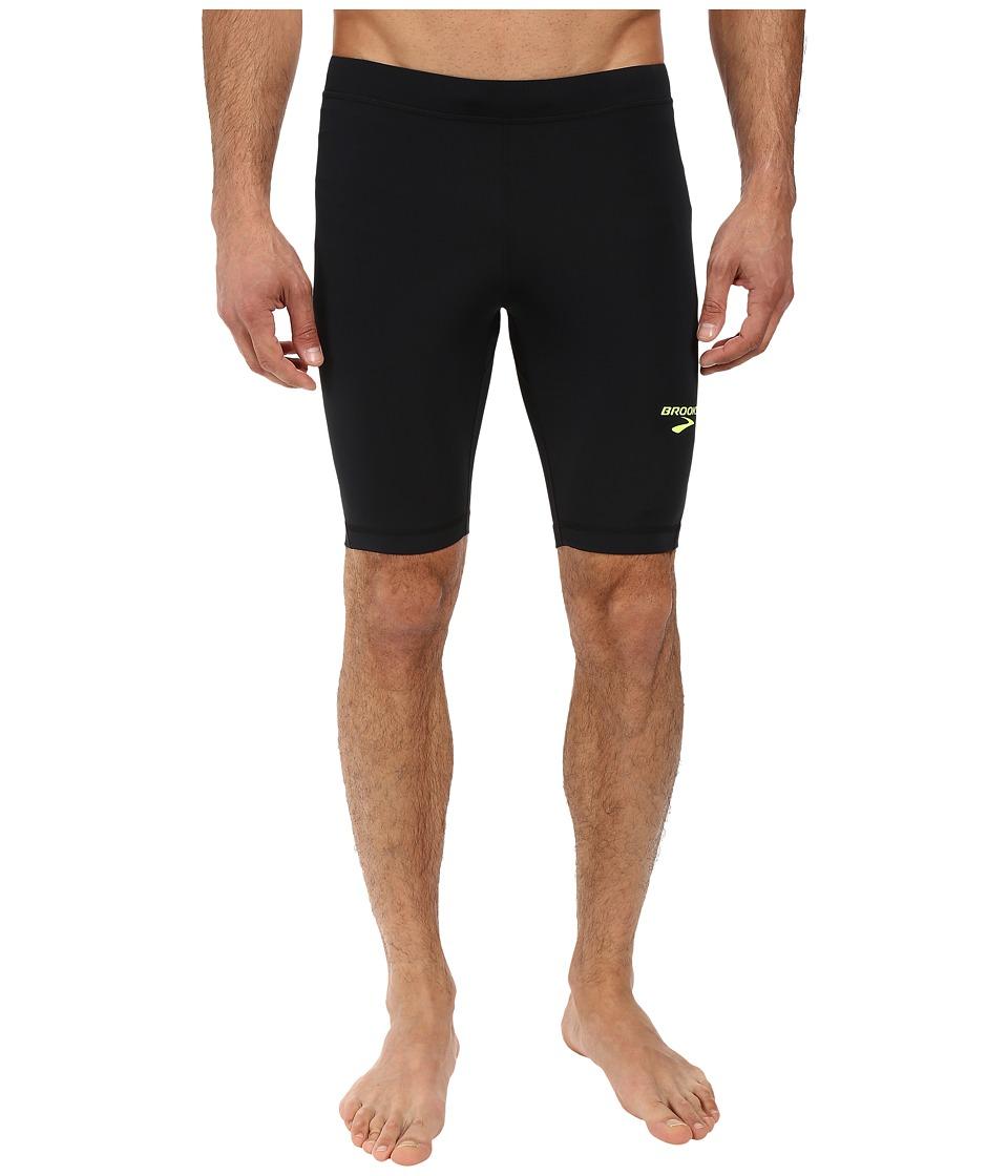 Brooks - Elite 9 Short Tights (Black) Men's Shorts