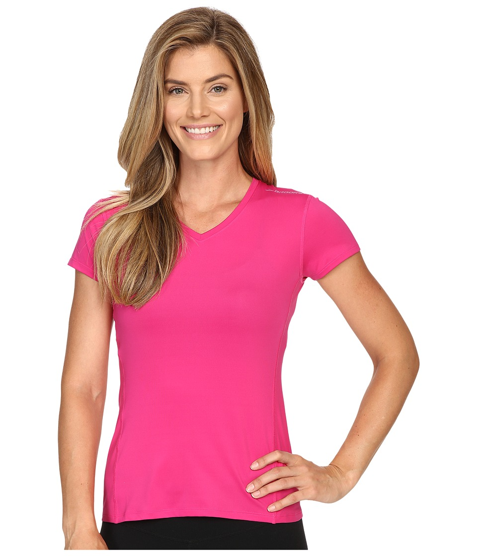 Brooks - Steady Short Sleeve Shirt (Bloom) Women's T Shirt