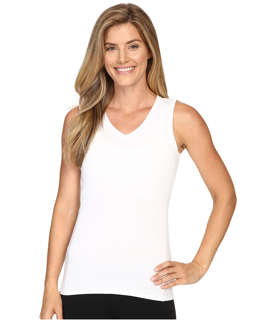 Brooks - Steady Sleeveless Top (White) Women's Sleeveless