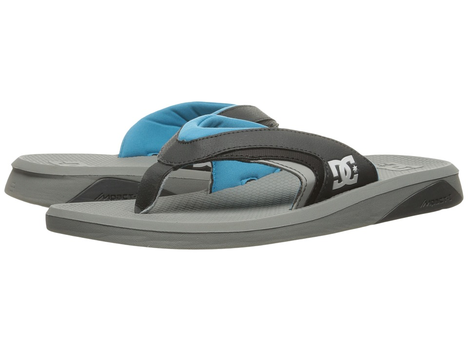 DC - Recoil By Bruce Irons (Grey/Blue) Men's Sandals