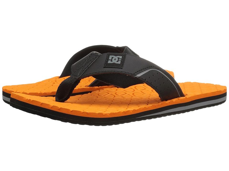 DC - Kush (Black/Black/Orange) Sandals