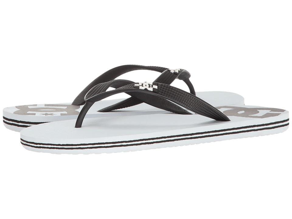 DC - Spray (White/Black Basic) Men's Skate Shoes