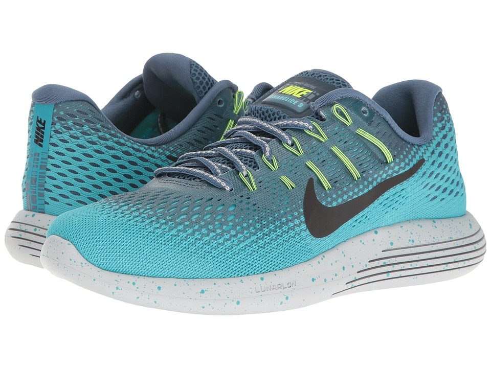Nike - LunarGlide 8 Shield (Ocean Fog/Black/Gamma Blue/Pure Platinum) Women's Running Shoes