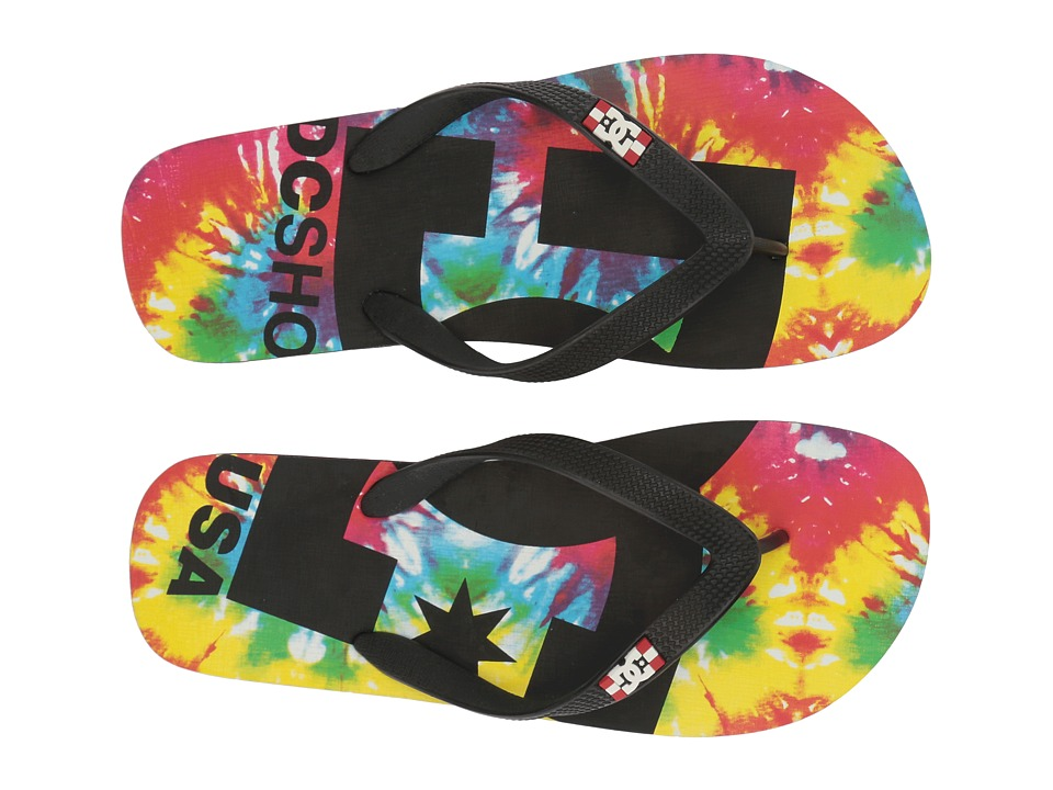 DC - Spray Graffik (Black Multi) Men's Skate Shoes