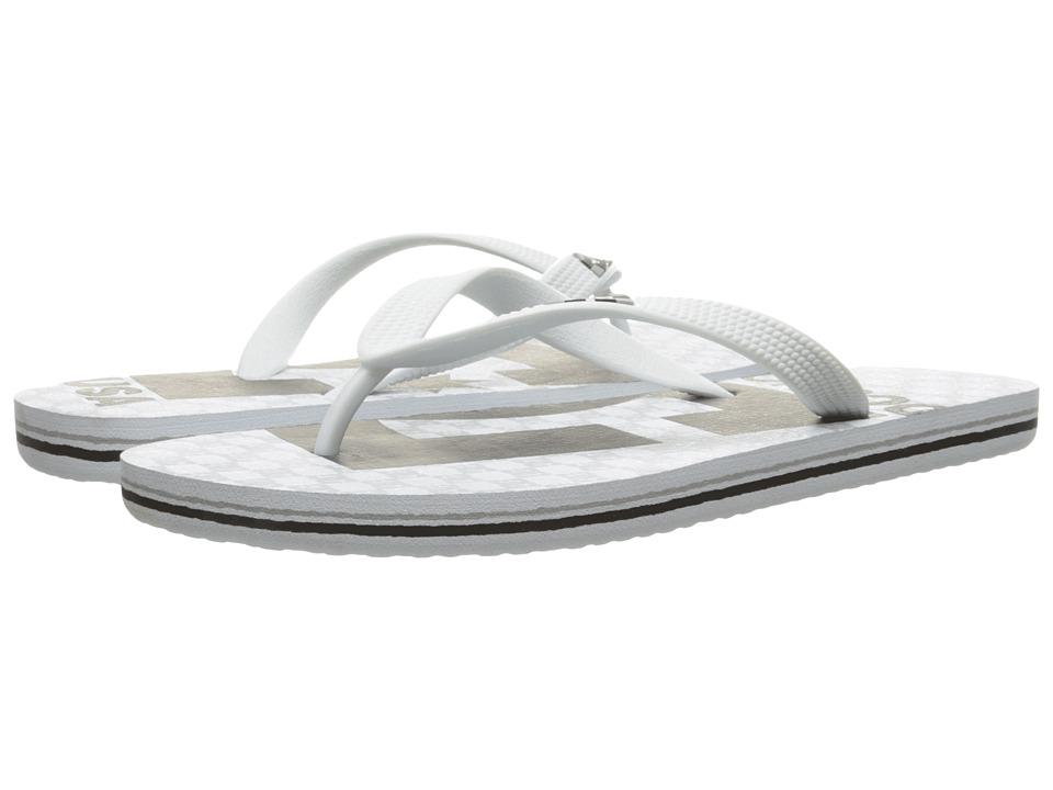 DC - Spray Graffik (White/Black/White) Men's Skate Shoes