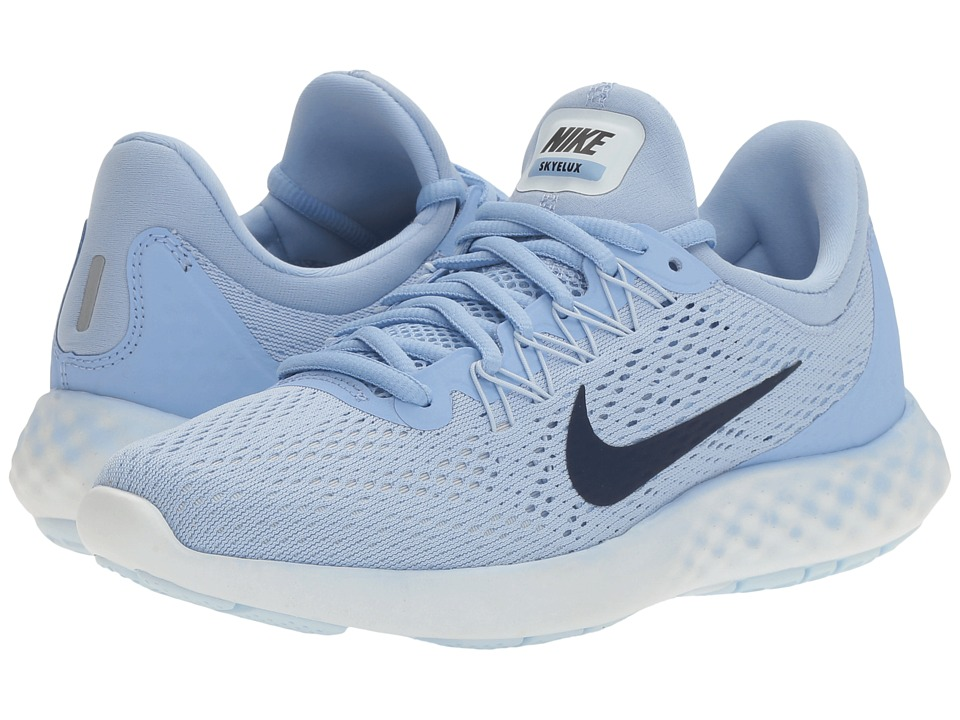 Nike - Lunar Skyelux (Aluminum/Binary Blue/Medium Blue) Women's Shoes