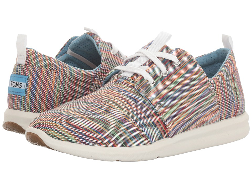 TOMS - Del Rey Sneaker (Blue Aster Multi Space Dye) Women's Lace up casual Shoes