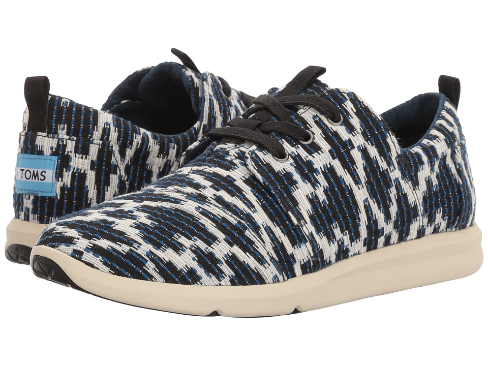 TOMS - Del Rey Sneaker (Navy Tribal Jacquard) Women's Lace up casual Shoes