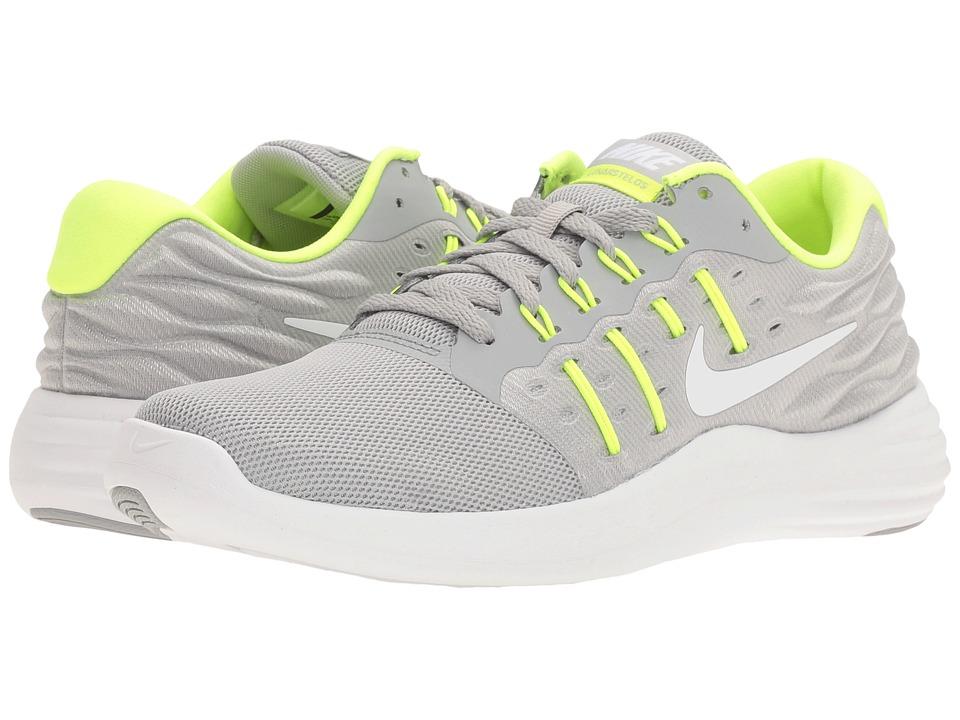 Nike - Lunarstelos (Wolf Grey/White/Volt/Pure Platinum) Women's Running Shoes