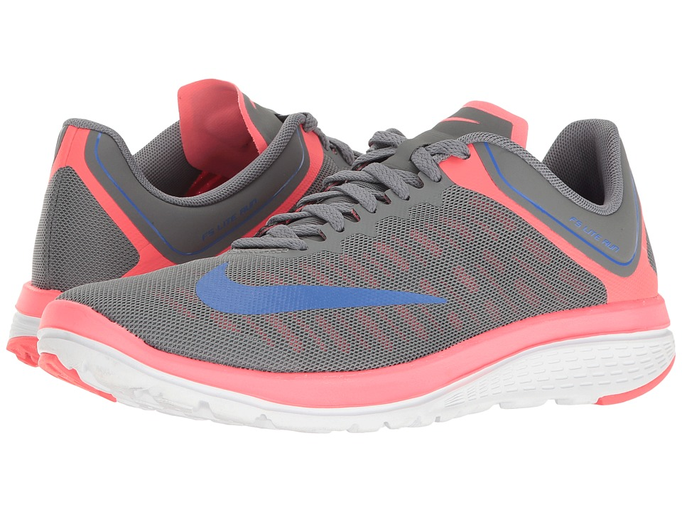Nike - FS Lite Run 4 (Cool Grey/Medium Blue/Hot Punch/White) Women's Shoes