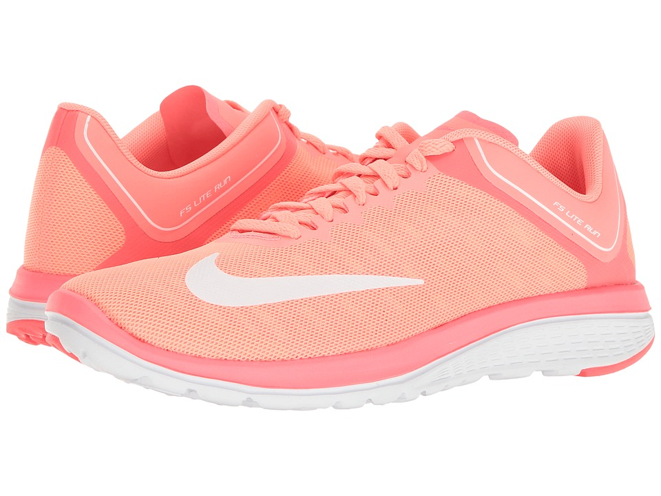 Nike - FS Lite Run 4 (Lava Glow/White/Hot Punch) Women's Shoes